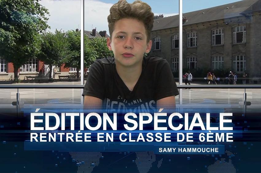 """Rentrée en classe de 6ème : édition spéciale du """"Parco News"""", le JT du collège"""