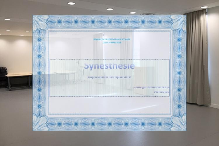 Photos de l'exposition « Synesthésie » qui s'est déroulée du 13 au 16 mars 2018